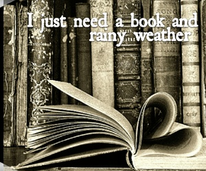 books, forever, and rainy image