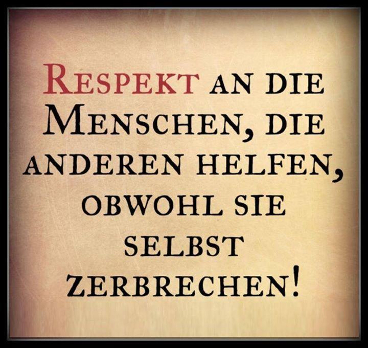 Respekt An Die Menschen Die Anderen Helfen Obwohl Sie