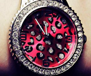 watch, pink, and diamond image