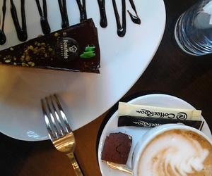 cake, chocolate, and espresso image