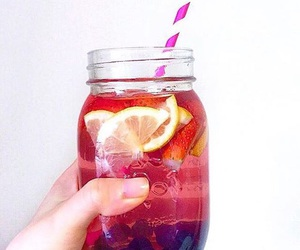 blueberries, drink, and food image