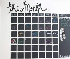 board, calendario, and diy image