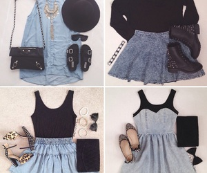 accessories, bow, and denim image