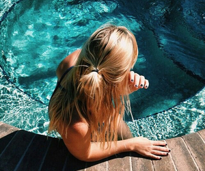 girl, summer, and photography image