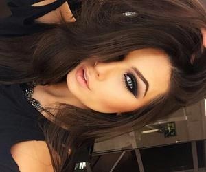 eyes, makeup, and hair image