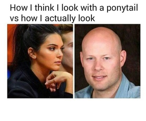 funny and ponytail image