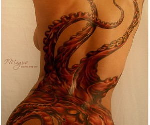 octopus and tattoo image