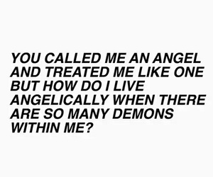 angel, demons, and quotes image