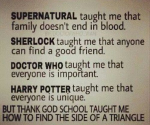 doctor who, harry potter, and lessons image