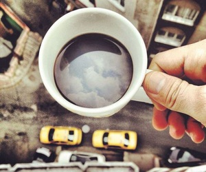 coffee, sky, and city image