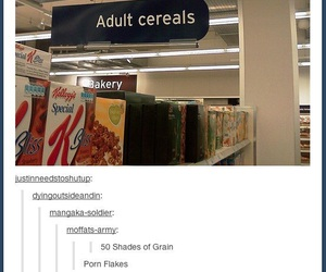 funny, cereal, and tumblr image
