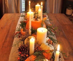 candles, fall, and food image