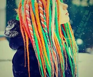 hair, snow, and dreads image