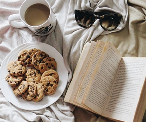 book, Cookies, and coffee image