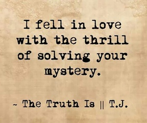 mystery, quote, and love image