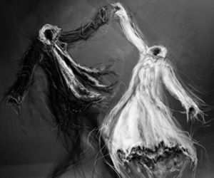 dance, art, and black and white image