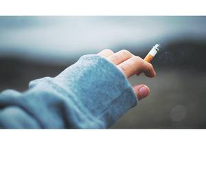 cigarette, fingers, and hand image