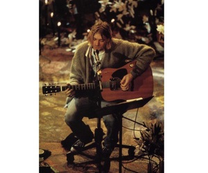 kurt cobain, unplugged, and mtv image