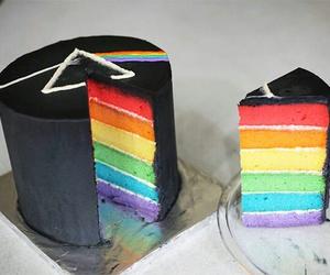 cake, Pink Floyd, and rainbow image