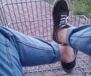 grunge, jeans, and vans image
