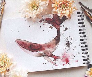 art, beautiful, and dolphin image