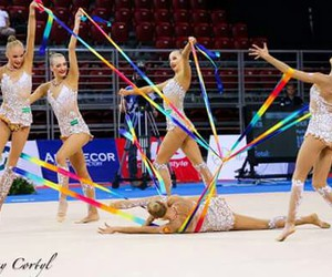 gymnastics, ribbons, and russia image
