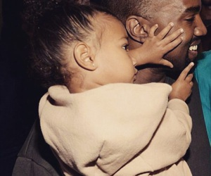 kanye west, north west, and beautiful image