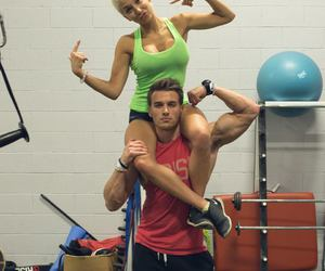 couple, fitness, and gym image