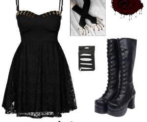 fashion, goth, and Polyvore image