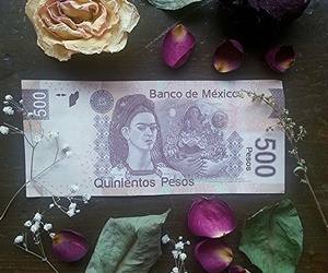 art, cash, and flowers image
