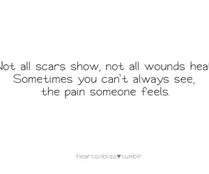 pain, quote, and scars image