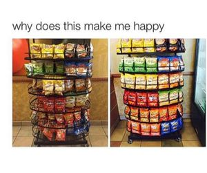 happy, chips, and funny image