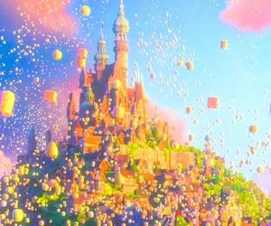 colorful, disney, and lanterns image