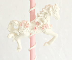 horse, pink, and sweet image