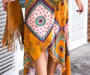 asymmetric, tribal, and maxi skirt image