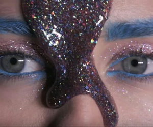 miley cyrus, eyes, and blue image