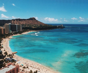 clear water, hawaii, and beach image