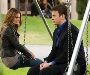 castle, caskett, and stana katic image
