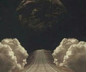 wallpaper, moon, and road image