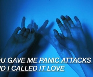 love, grunge, and blue image