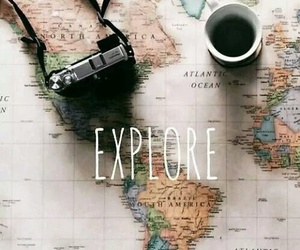 travel, explore, and map image