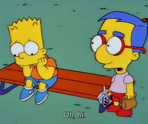 bart, funny, and milhouse image