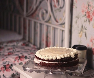 bed room, cake, and chic image