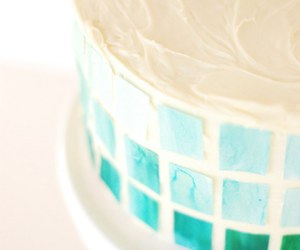 blue, cake, and diy image