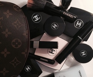 chanel, makeup, and black image
