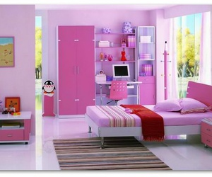 bedroom and pink image