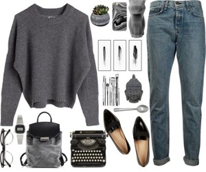 autumn, look, and style image