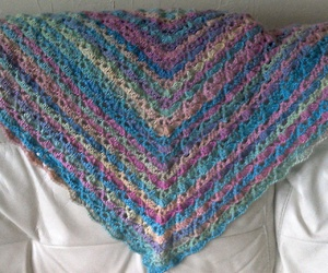 crochet, laine multicolore, and châle image