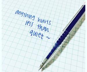 blue, handwriting, and Lyrics image