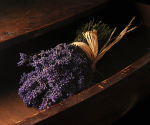 dried flowers, purple, and wood image